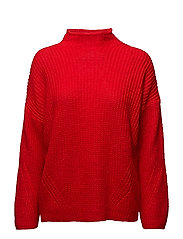 Odele Pullover KNIT - FIERY RED