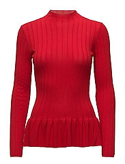Tilla Flounce Pullover - RACING RED