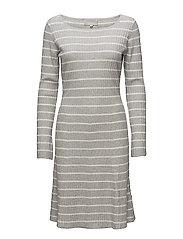 Tua Dress - WHITE SMOKE/ LIGHT GREY MELANG