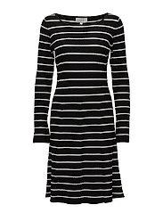 Tua Dress - BLACK / WHITE SMOKE