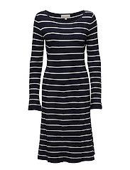 Tua Dress KNIT - MARINE BLUE / WHITE SMOKE