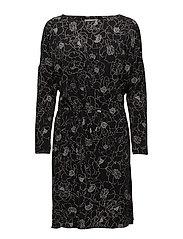 Tinne Dress KNTG - PENCIL FLOWER BLACK