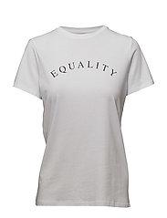 Terne Tshirt - EQUALITY / PURE WHITE