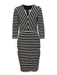 Thilda Dress - BLACK / WHITE SMOKE