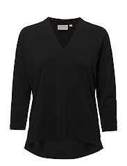 Trude Top KNTG - BLACK