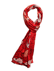 Helvi Scarf ACCS - SPRING FLOWERS RED