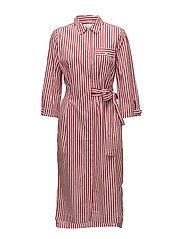 Polina Dress LW - RED AND WHITE STRIPE