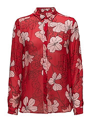 Begonia Shirt - SPRING FLOWERS RED
