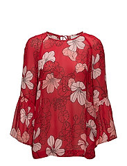 Begonia Blouse - SPRING FLOWERS RED