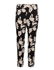 Chan Pant Nica fit HW - WATERCOLOR FLOWER BLACK