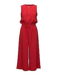 Cache Jumpsuit - RACING RED