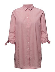 Breanna Long Shirt LW - RED AND WHITE STRIPE