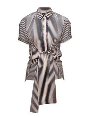 Bora Tie Shirt LW - STRIPES MIDNIGHT