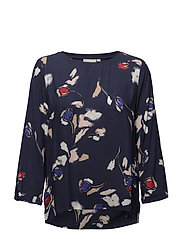 Bryana Blouse - PAINTED FLOWER MIDNIGHT