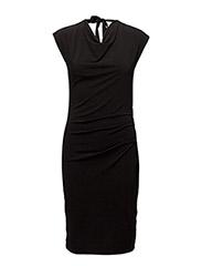Anzi Cowl Dress KNTG - BLACK