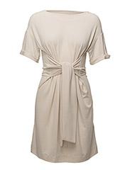 Alexa Tie Dress - FRENCH NOUGAT