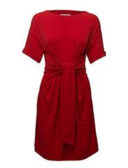 Alexa Tie Dress KNTG - RACING RED