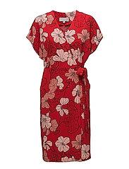 Begona Dress - SPRING FLOWERS RED