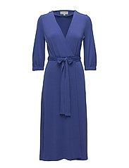 Siri Wrap Dress KNTG - CLEMATIS BLUE