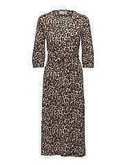 Siri Wrap Dress KNTG - LEOPARD