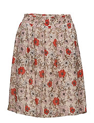 Senga Skirt LW - FRENCH NOUGAT DRAWN FLOWER
