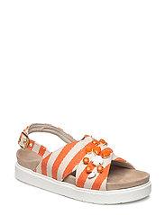 Sandal stripes - ORANGE