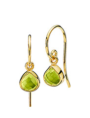 Fame Earrings - SHINY GOLD - GREEN PERIDOT