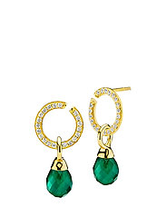 Promise/Wonderop Earrings - SHINY GOLD, GREEN