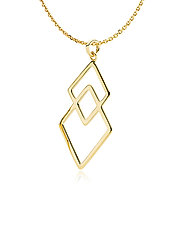 DNA pendant Necklace - SHINY GOLD