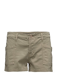 K153 BRONA Mid Rise Cargo Short - DISTRESS SILVER SAGE