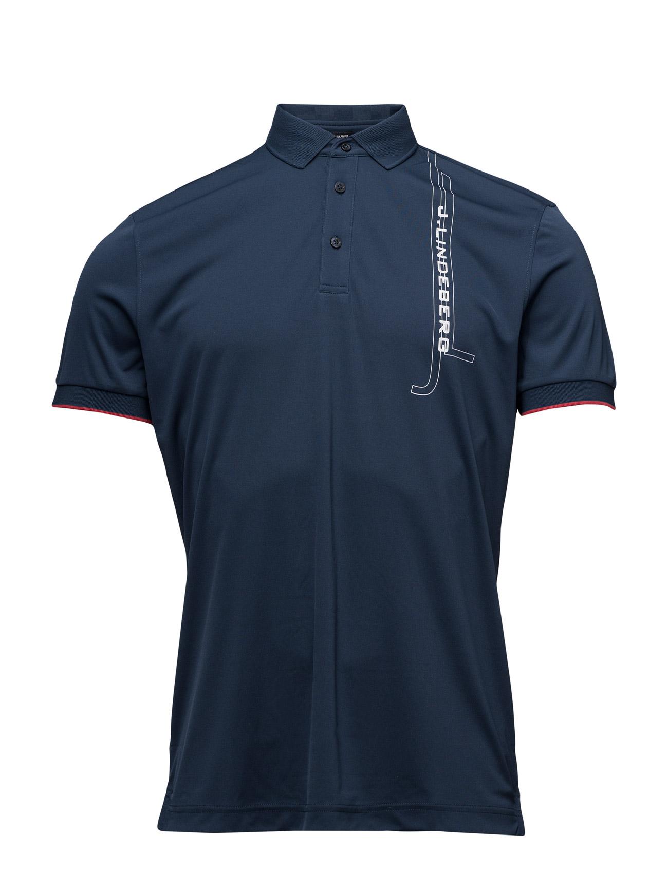 M Truls Reg Tx Jersey J. Lindeberg Golf Golf polo t-shirts til Mænd i Navy blå