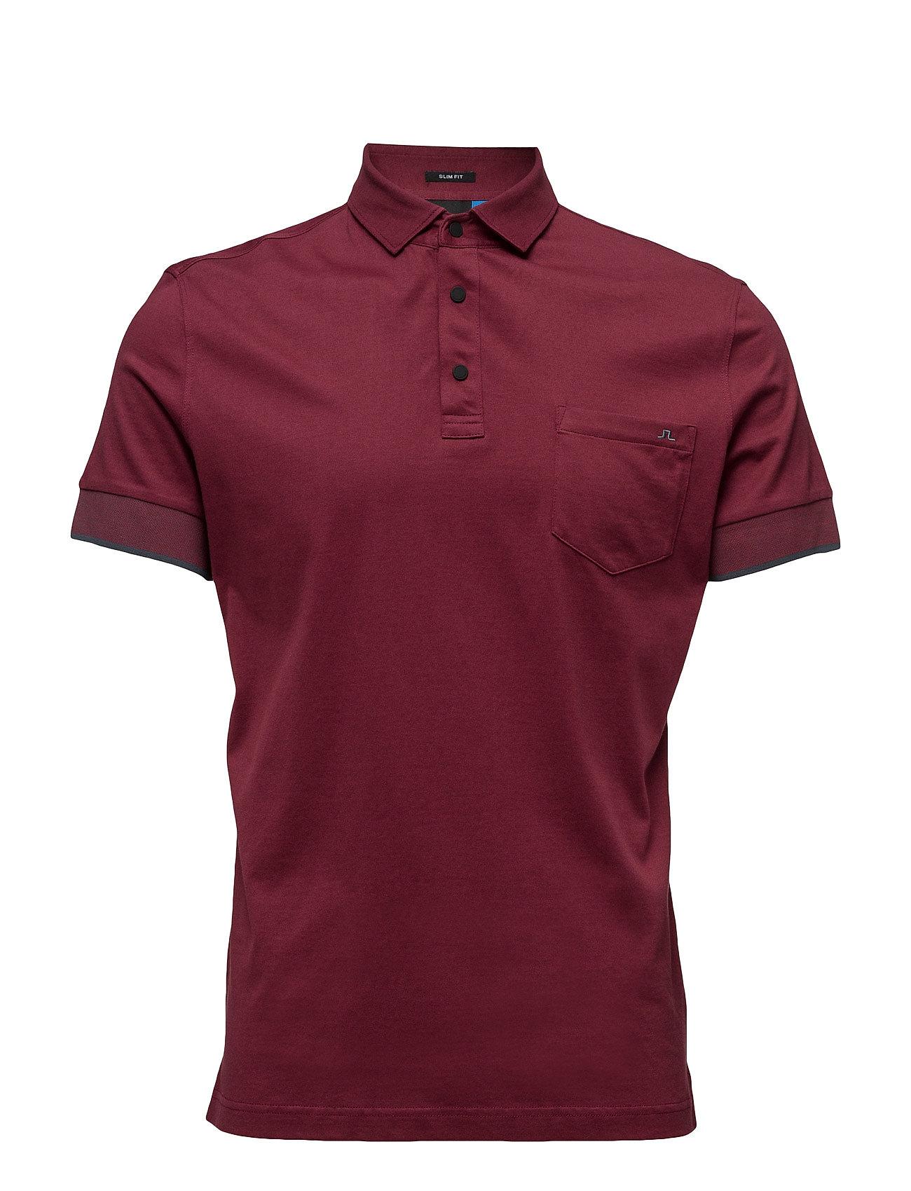 M Eric Slim Lux Jersey J. Lindeberg Golf Golf polo t-shirts til Herrer i Blomme