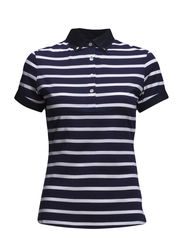 W Lisa Lux Stripe Jersey - Navy/Purple