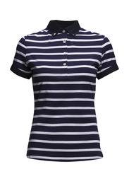 W Lisa Lux Stripe Jersey - Navy/Purple