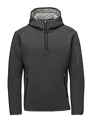 M Logo Hood Tech Sweat - GREY MELANGE