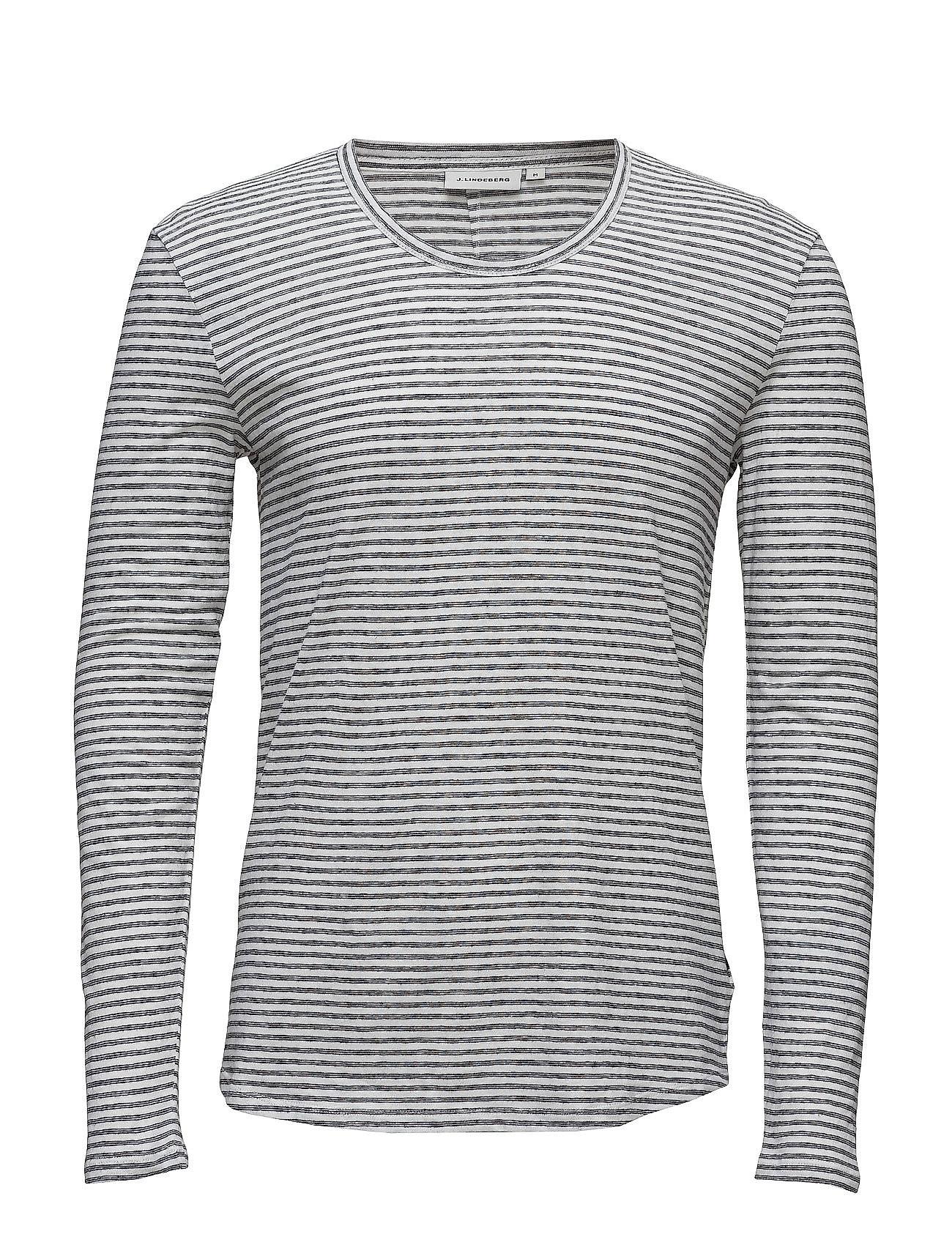 Teller Ls Raw Linen Mix J. Lindeberg T-shirts til Mænd i Off White