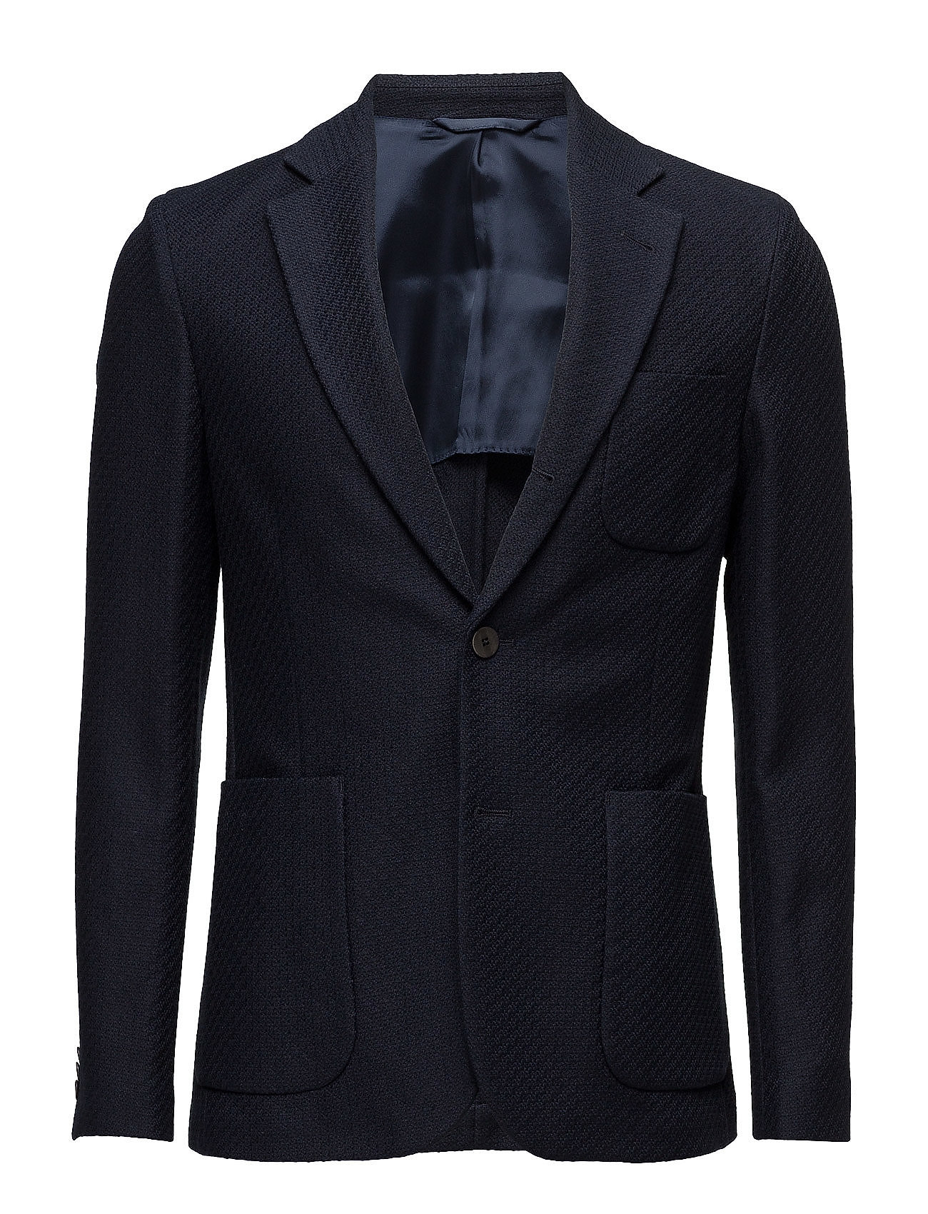 Piemonte Unc Knit Weave J. Lindeberg Blazere til Herrer i Midnight blå