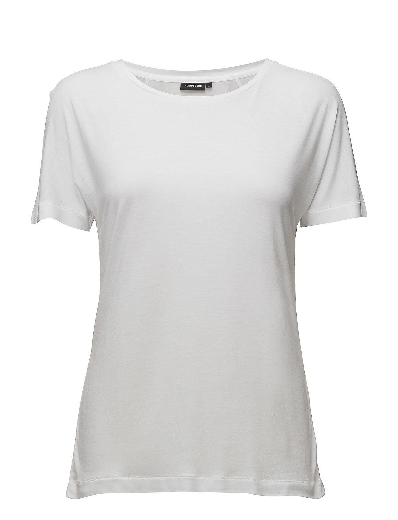 Rasha Drapy Jersey J. Lindeberg T-shirts & toppe til Kvinder i hvid