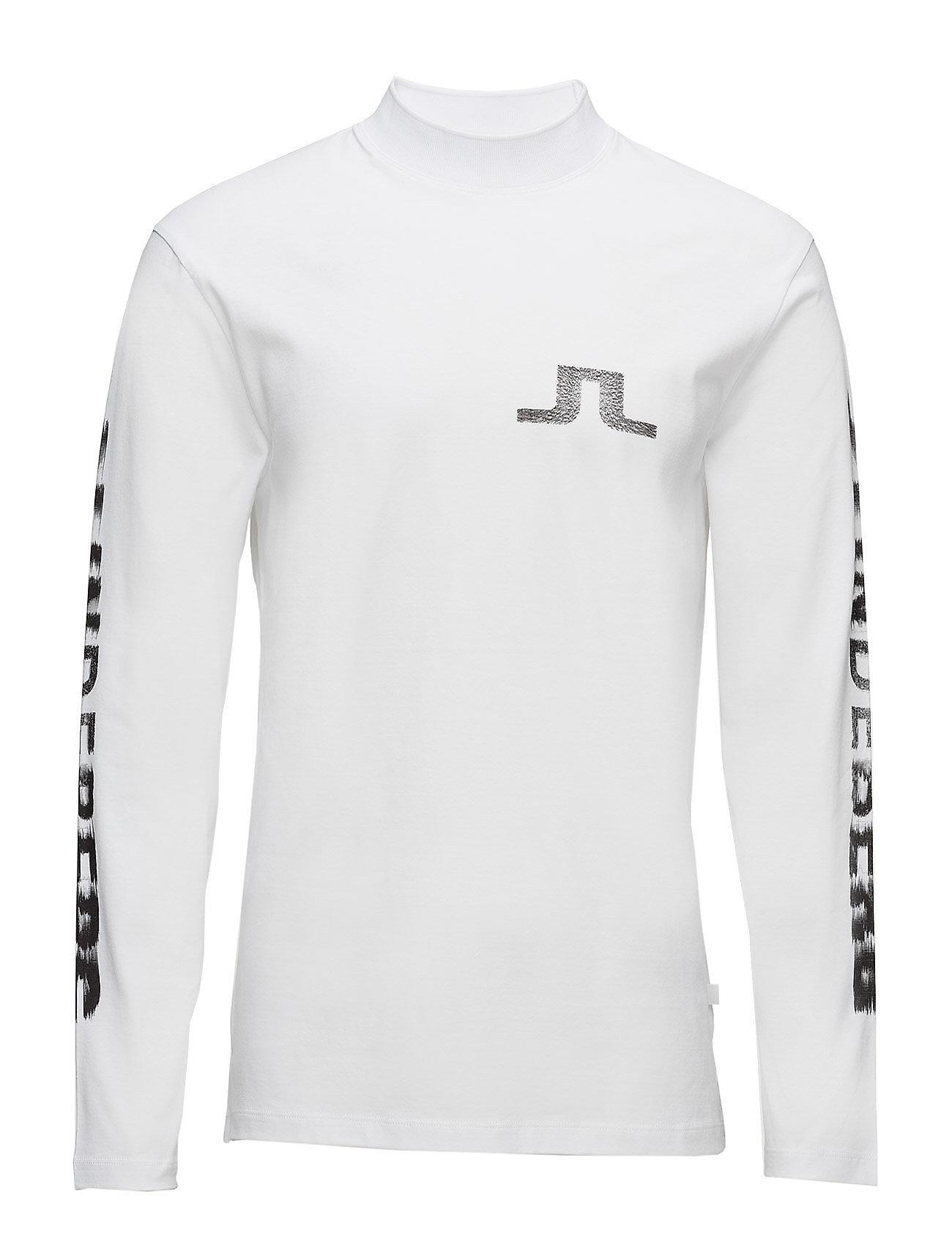 Find Junip Logo Rips Cotton J. Lindeberg Sports toppe i hvid til Herrer i  en webshop