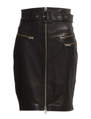 Nicky Biker Sheen Leather - Black