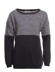Margo Block Knit - Grey Melange