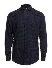 Ward 43 PKT Mix Flannel - Black Navy