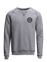 Chad Compact Sweat - Grey Melange