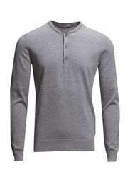 Henri Shiny Knit - Lt Grey Melange