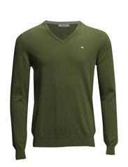 Melvin v-neck Fine Cotton - Green