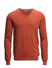 Melvin v-neck Fine Cotton - Orange