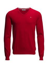 Melvin v-neck Fine Cotton - Red Intense