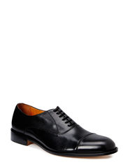 Hopper Cap Toe Port Calf - Black