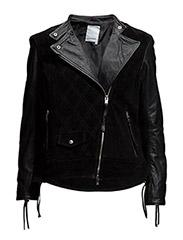 Berit Suede N Leather - Black