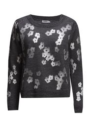 Marlow Transparent Flower - Black